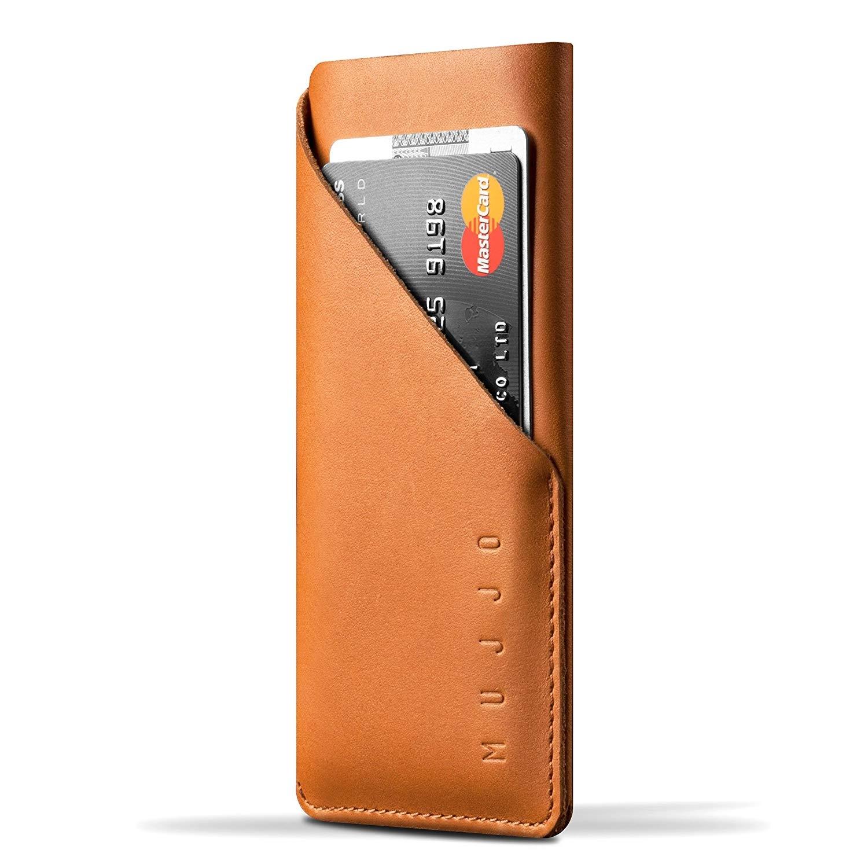 MUJJO Full Leather Wallet Sleeve - Δερμάτινο Πουγκί - Πορτοφόλι iPhone X/XS - Tan (mujjo-sl-103-tn)