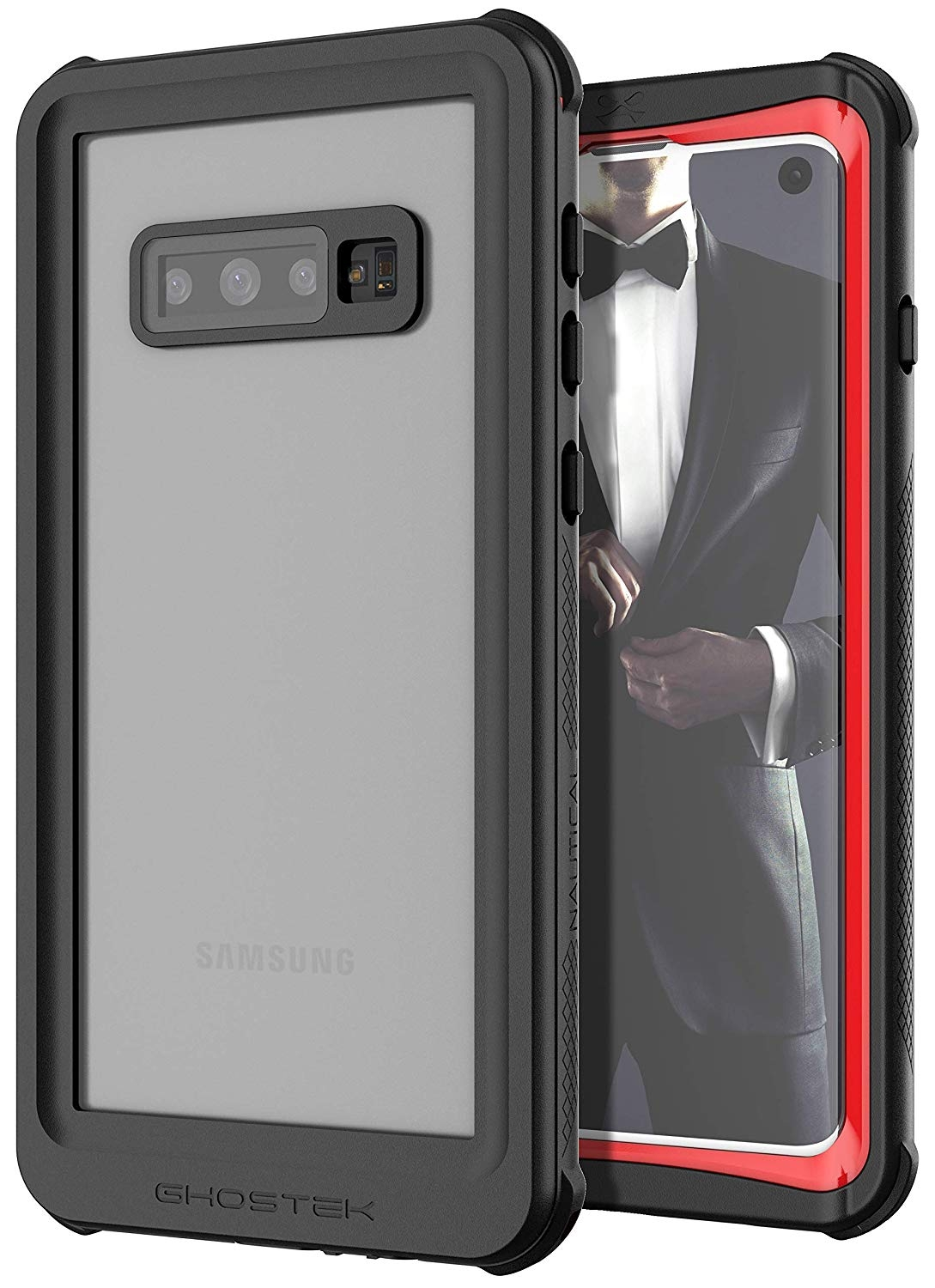 Ghostek Nautical 2 Αδιάβροχη Θήκη Samsung Galaxy S10 - Red / Black (GHOCAS2107)