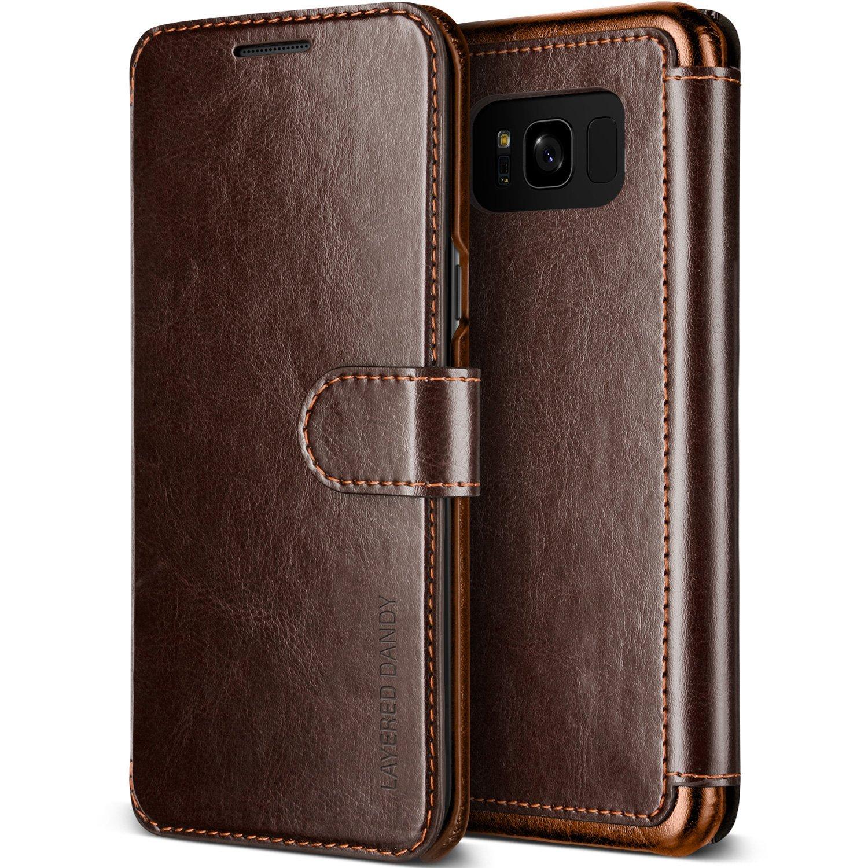 VRS Θήκη Πορτοφόλι Samsung Galaxy S8 Plus - Dark Brown/Brown (VRSG8ELDDBN)