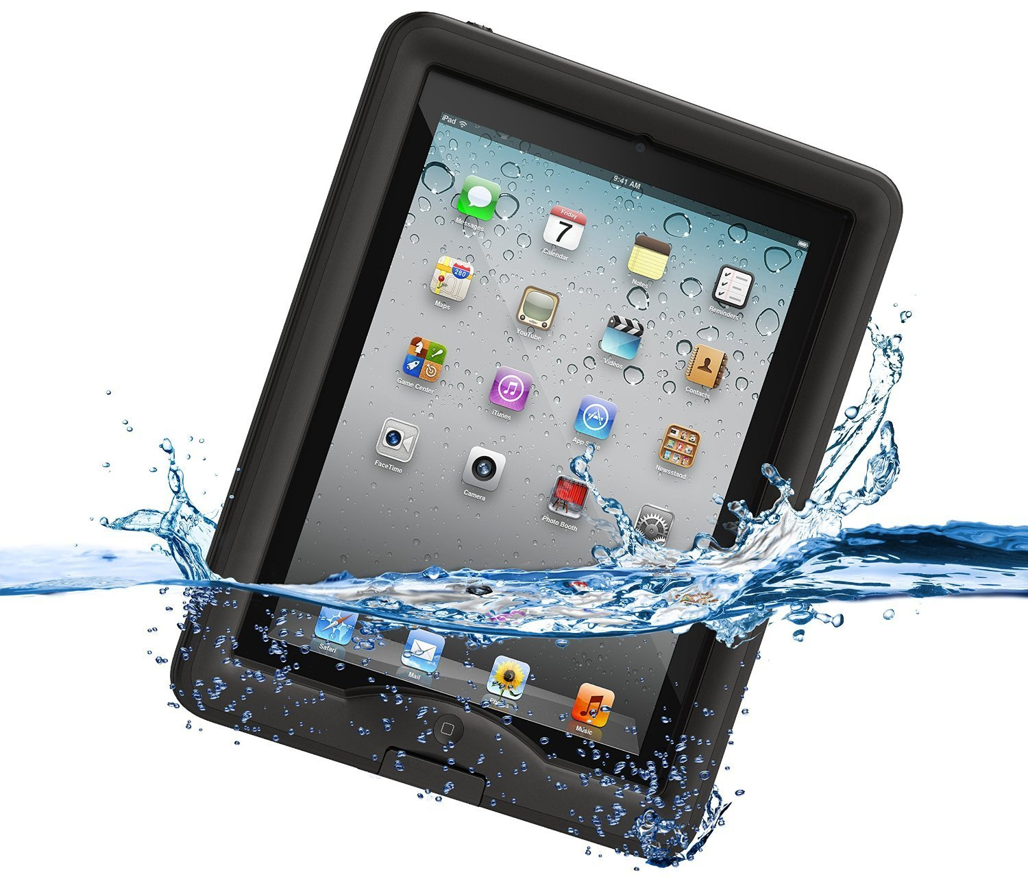 LifeProof Nuud Αδιάβροχη Θήκη iPad 4 / 3 / 2 - Black (1110-01) all