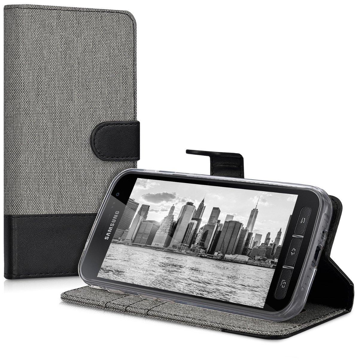 KW Θήκη - Πορτοφόλι Samsung Galaxy Xcover 4 - Grey/ Black (41255.01)
