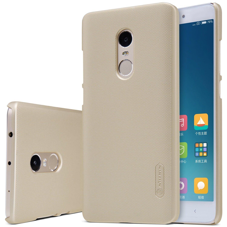 Nillkin Θήκη Super Frosted Xiaomi Redmi Note 4/Note 4Χ - Gold + Screen Protector (10421)