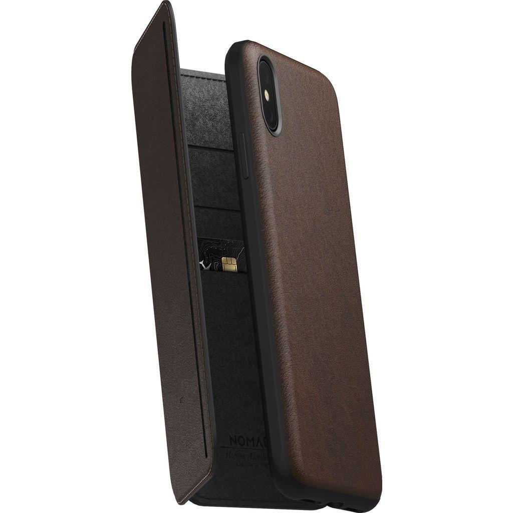Nomad Δερμάτινη Rugged Tri-Folio Θήκη - Πορτοφόλι iPhone XS Max - Rustic Brown (NM21TR0H50)