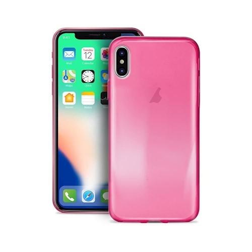 Puro Ultra Slim Θήκη Σιλικόνης Ημιδιαφανή iPhone X / XS - Transparent Pink (IPCX03NUDEPNK)