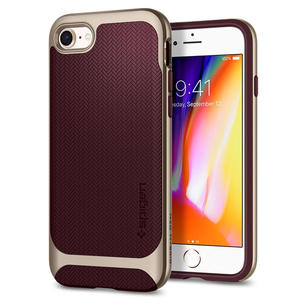 Spigen Θήκη Neo Hybrid Herringbone iPhone 8 / 7 - Burgundy (054CS22198)