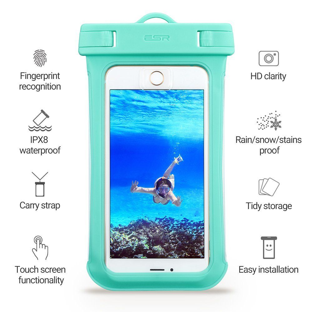 ESR Universal Αδιάβροχη Θήκη Πουγκί για Smartphones έως 5.5'' - Green (13152)