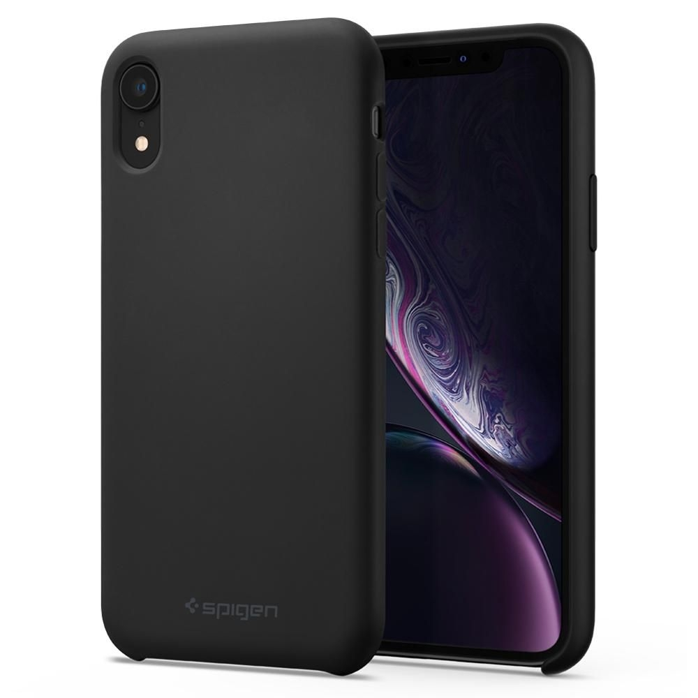 Spigen Silicone Fit - Θήκη iPhone XR - Black (064CS25652)
