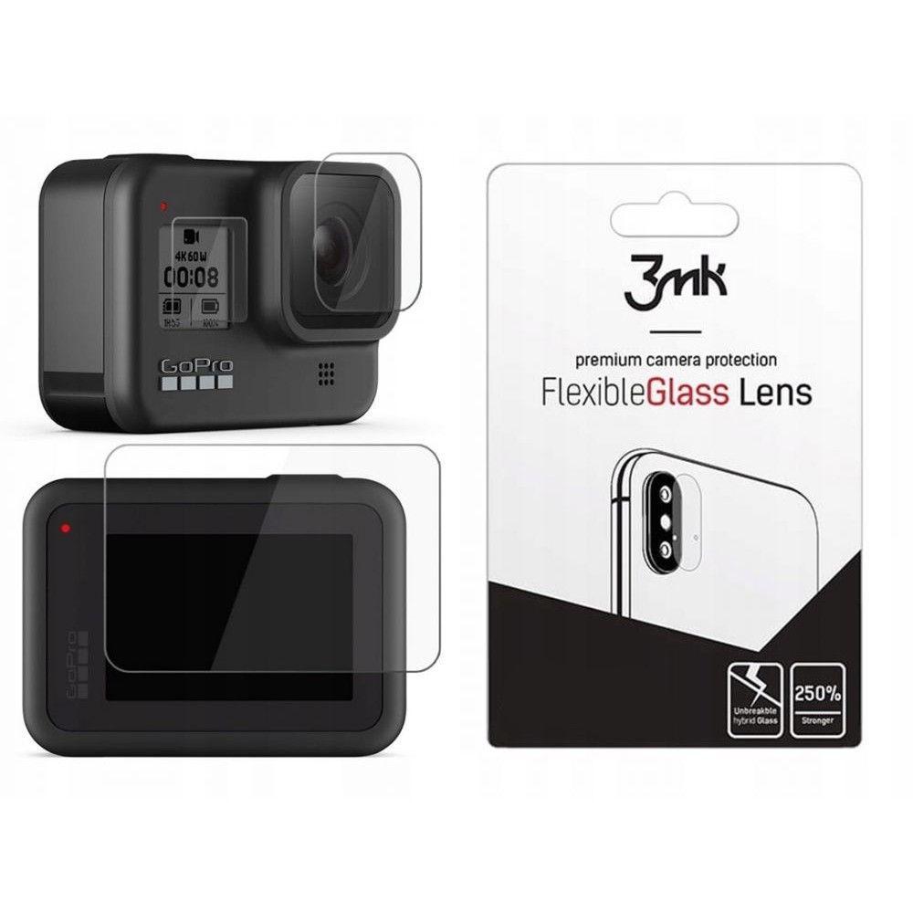 3MK Glass Camera Protector - Αντιχαρακτικό Προστατευτικό Γυαλί για Φακό Κάμερας GoPro HERO 8 - Black - 4 τεμάχια (59488)