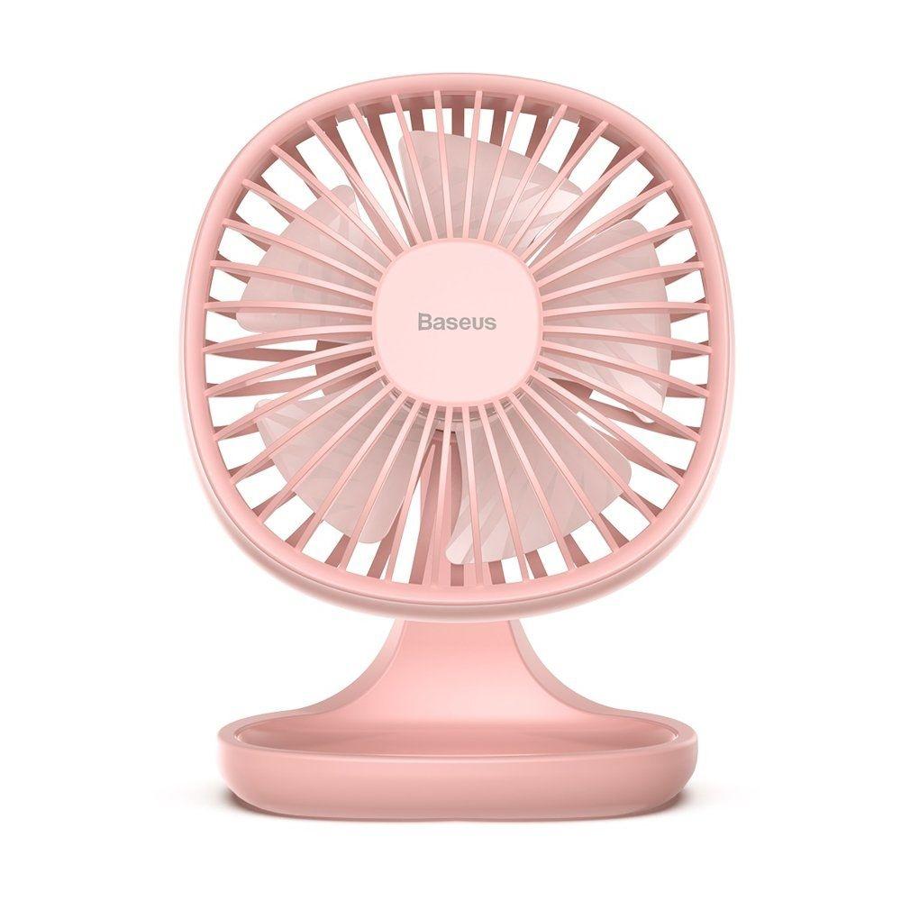 Baseus Pudding Shaped Fan - Ανεμιστήρας Μίνι Με Βάση - Pink (CXBD-04)