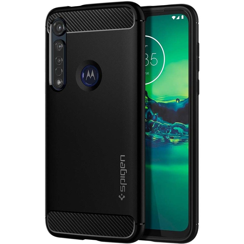 Spigen Θήκη Rugged Armor Motorola Moto G8 Plus - Black Matte (ACS00605)