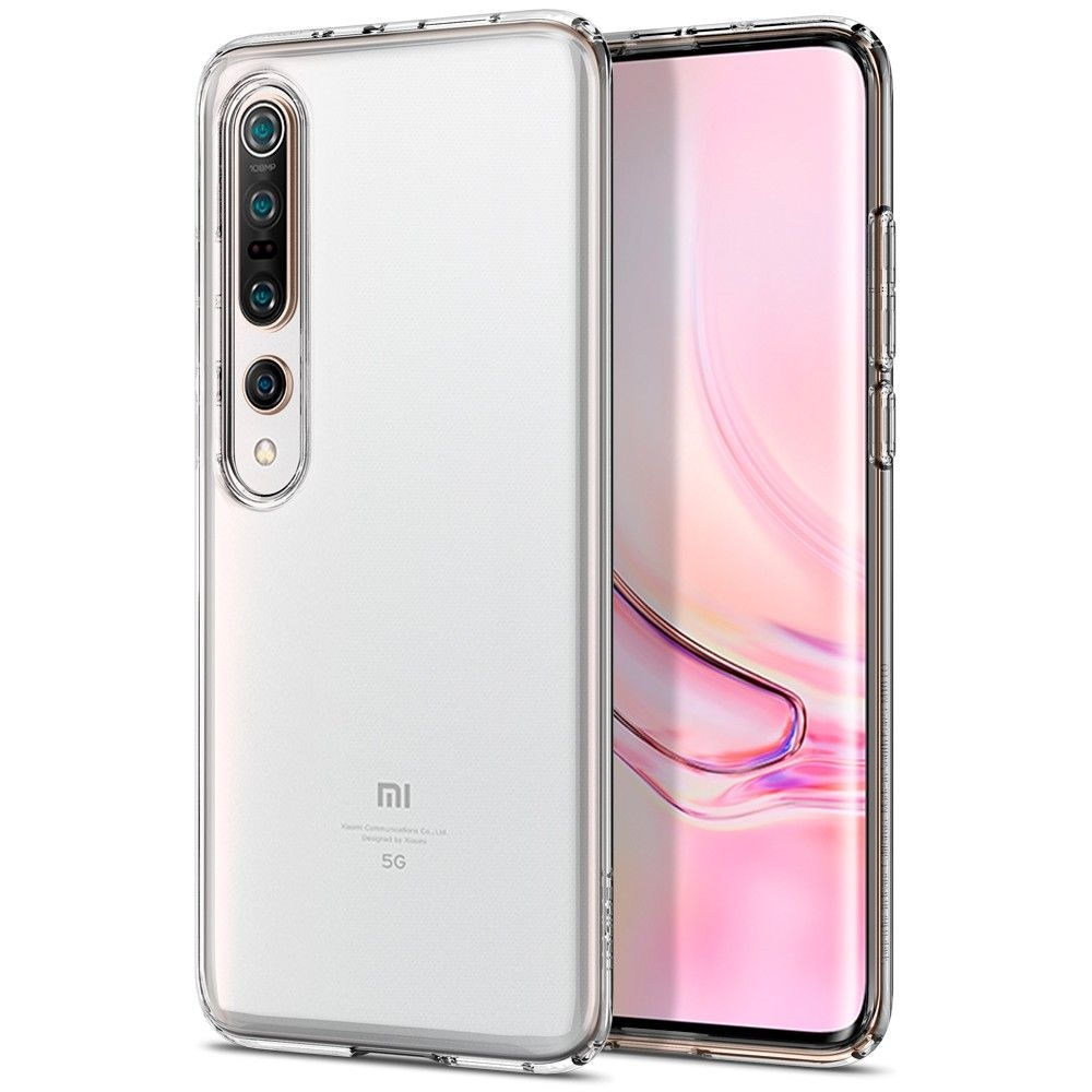 Spigen Θήκη TPU Liquid Crystal Xiaomi Mi 10 Pro / 10 - Crystal Clear (ACS00863)