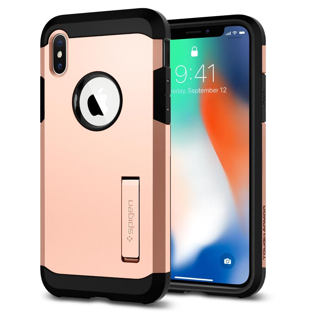 Spigen Θήκη Tough Armor iPhone X / XS - Blush Gold (057CS22162)