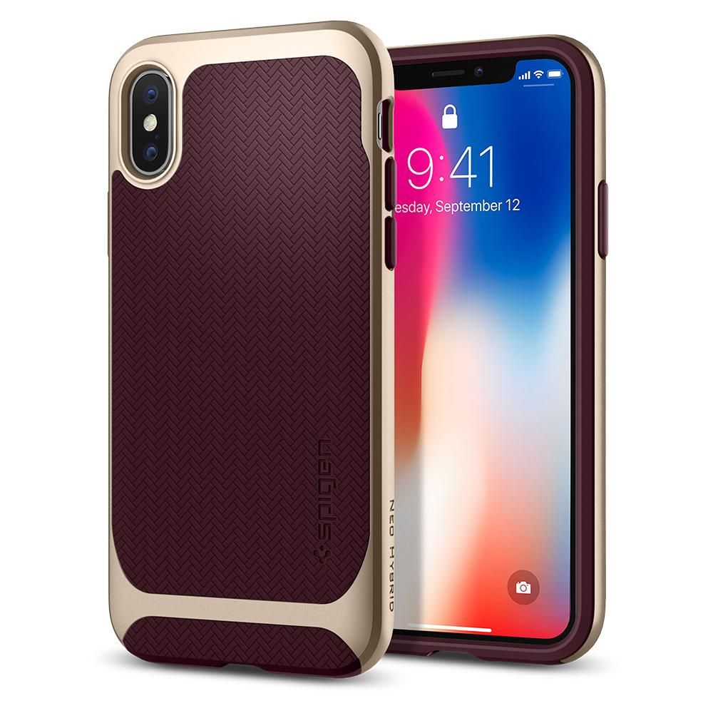 Spigen Θήκη Neo Hybrid iPhone X / XS - Burgundy (057CS22168)