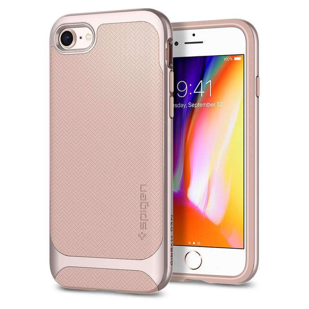 Spigen Θήκη Neo Hybrid Herringbone iPhone 8 / 7 - Pale Dogwood (054CS22202)