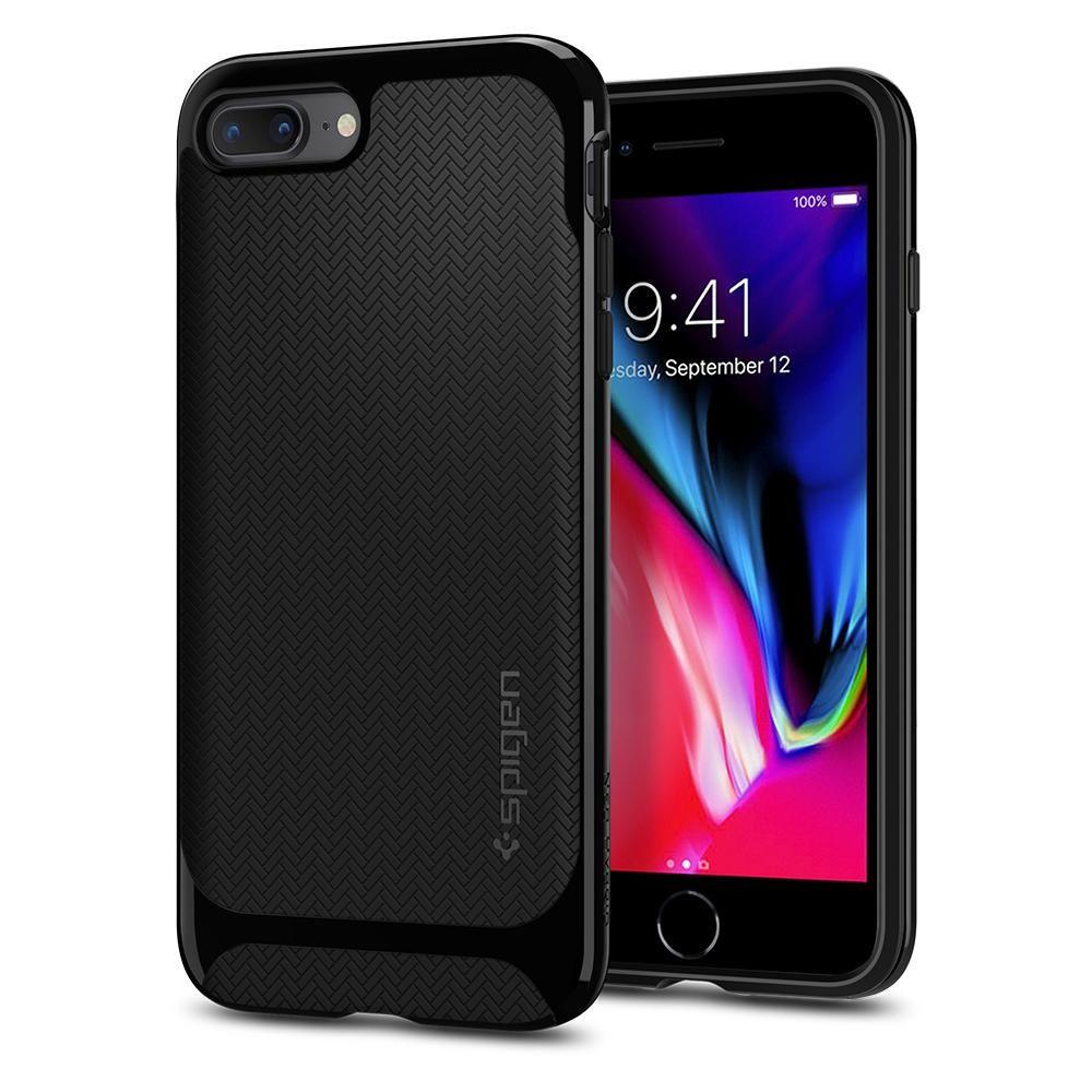 Spigen Θήκη Neo Hybrid Herringbone iPhone 8 Plus / 7 Plus - Shiny Black (055CS22230)