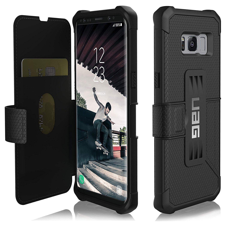 UAG Θήκη Πορτοφόλι Metropolis Feather-Light Rugged Samsung Galaxy S8 - Black (GLXS8-E-BK)