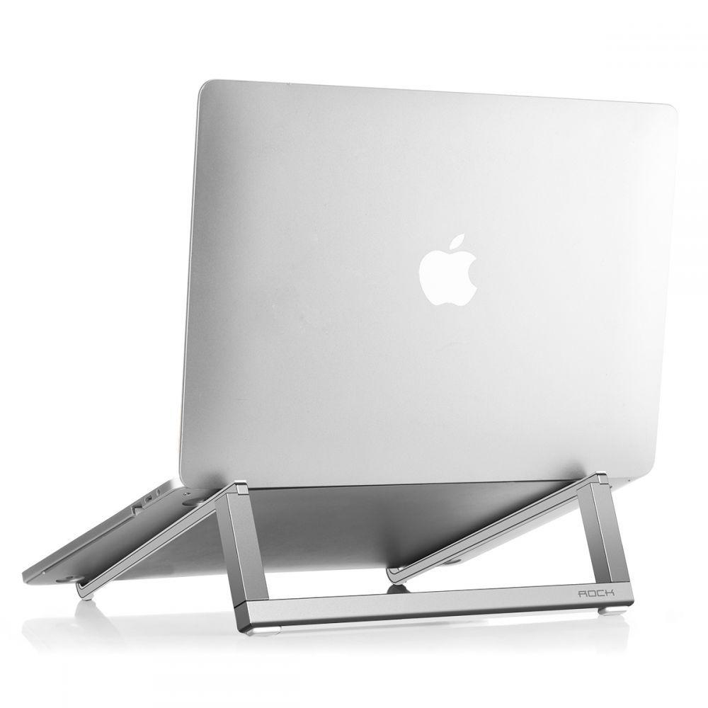 Rock Universal Laptop Stand - Βάση Αλουμινίου για Laptop 10'' - 15'' ίντσες - Silver (RPH0794)