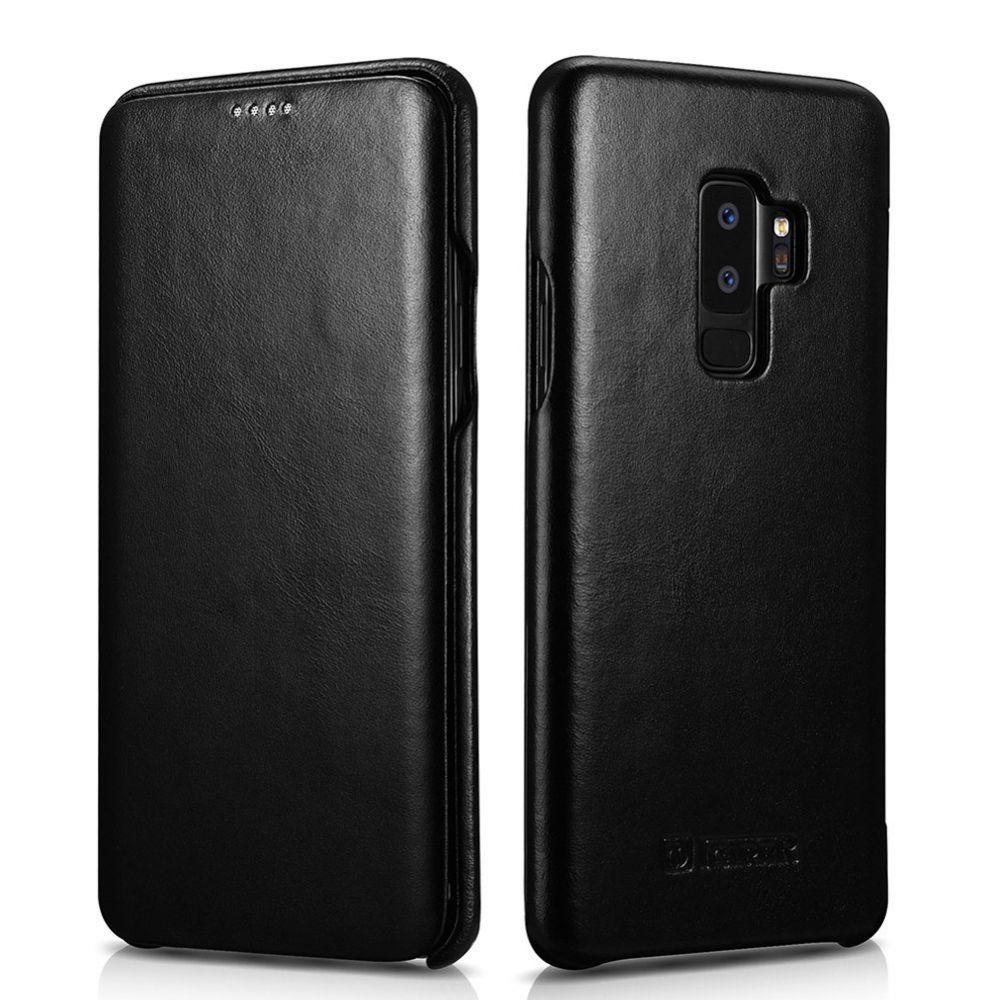iCarer Vintage Series Side-Open Δερμάτινη Θήκη Samsung Galaxy S9 Plus - Black (12878)