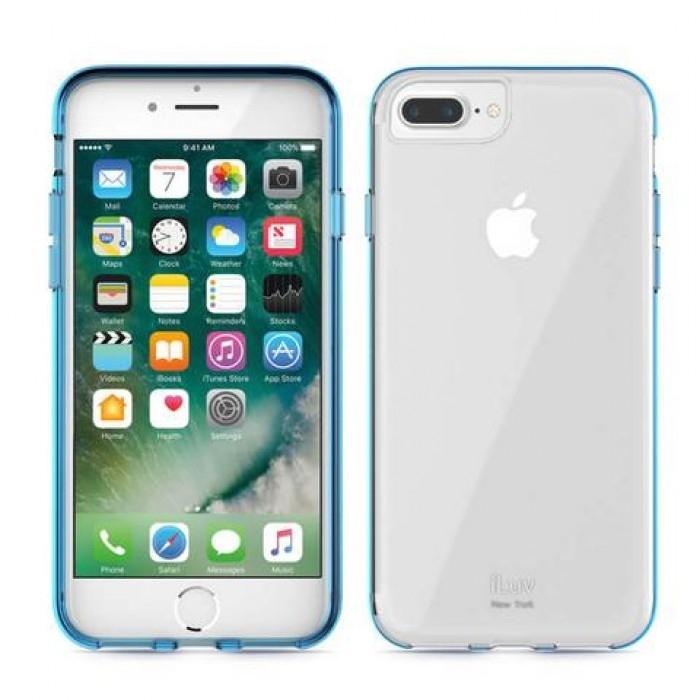 iLuv Vyneer Θήκη iPhone 7 / 8 - Transparent / Blue (AI7VYNEBL)