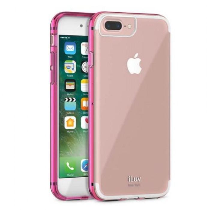 iLuv Vyneer Θήκη iPhone 7 / 8 - Transparent / Pink (AI7VYNEPN)