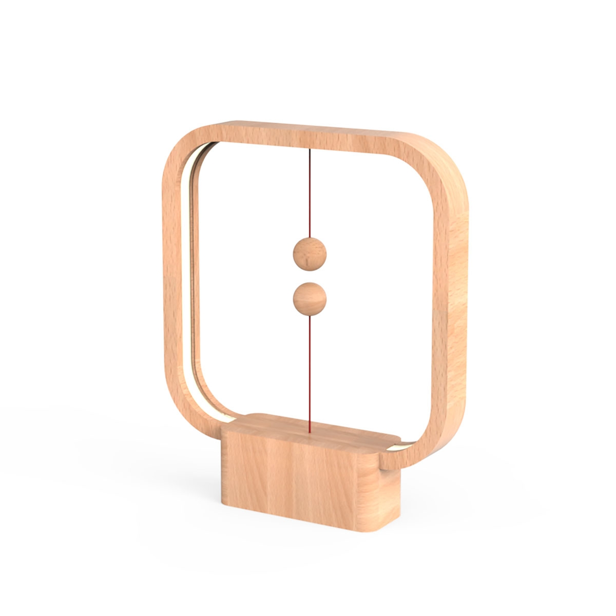 Allocacoc Heng Balance Lamp - Switch in Mid-Air - Square - Light Wood (47082)