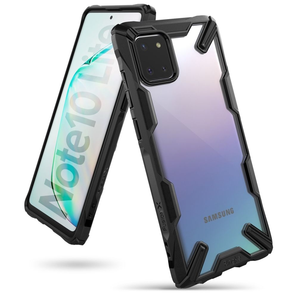 Ringke Fusion X Θήκη Σιλικόνης Samsung Galaxy Note 10 Lite - Black (63178)