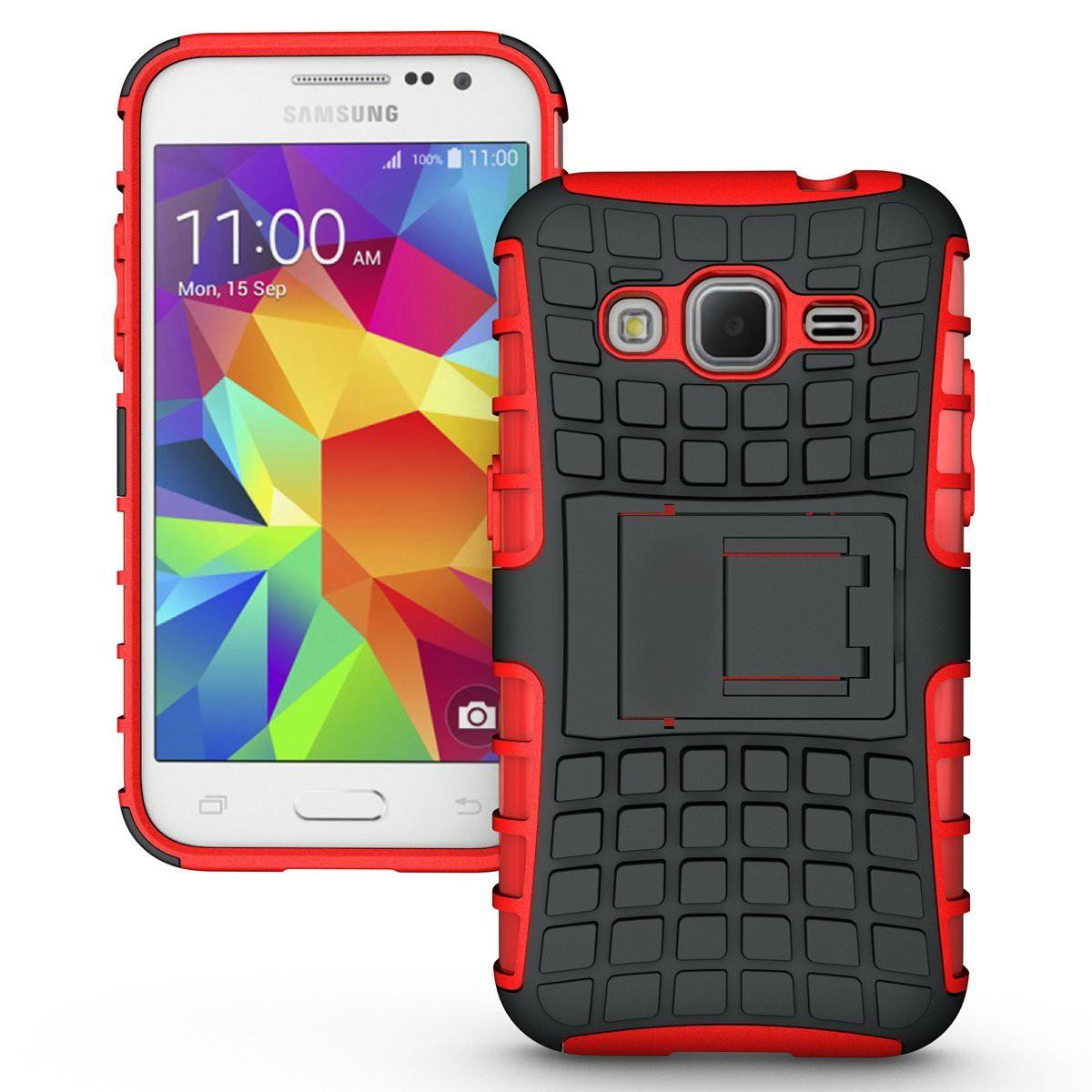 Ανθεκτική Θήκη Samsung Galaxy Core Prime (8830) - Κόκκινο - OEM