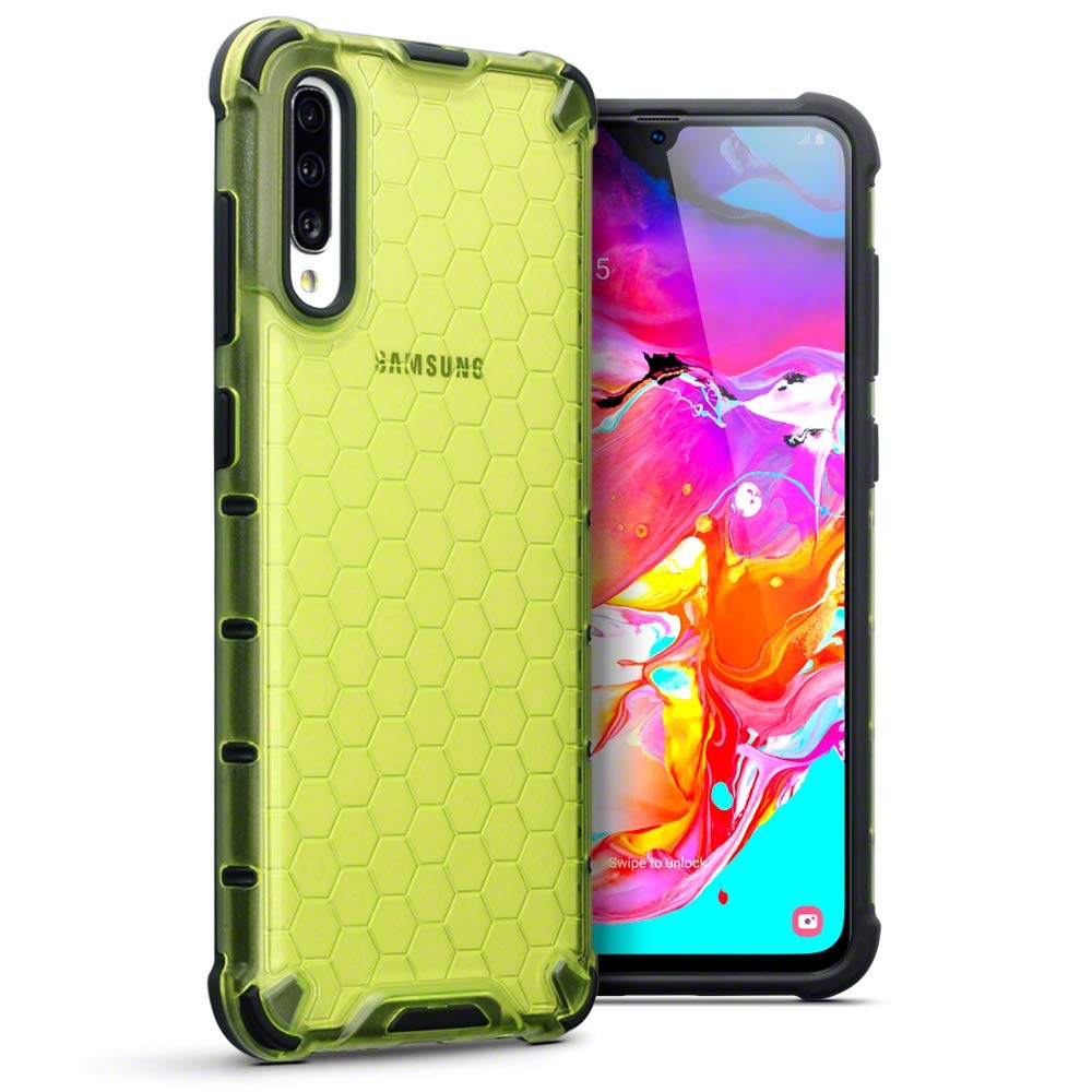 Terrapin Ανθεκτική Θήκη Honeycomb Hard Shell Samsung Galaxy A70 - Fluorescent Green (130-002-081)
