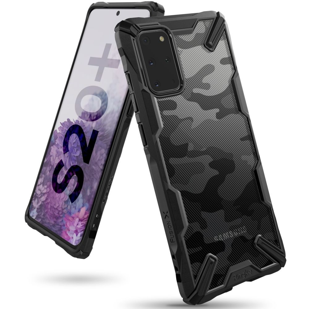 Ringke Fusion X Θήκη Σιλικόνης Samsung Galaxy S20 Plus - Camo Black (63171)