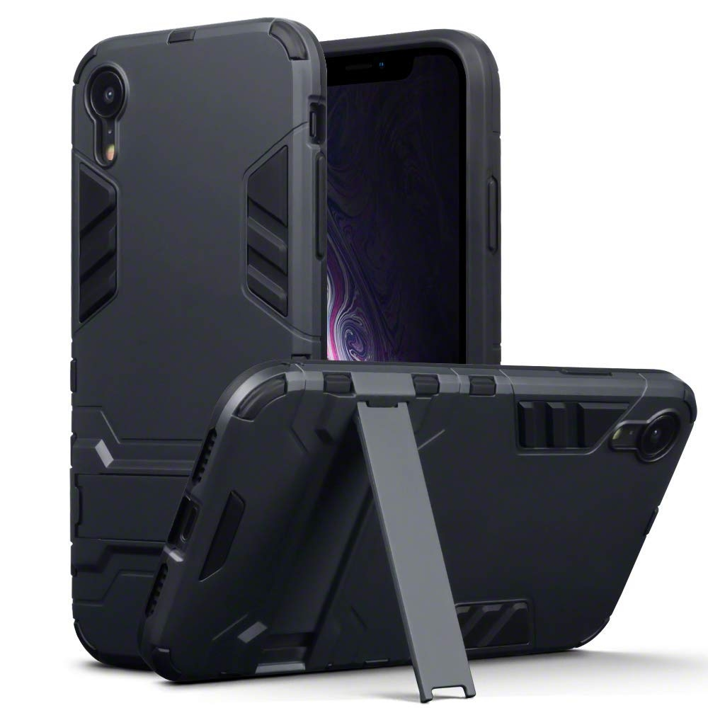 Terrapin Ανθεκτική Dual Layer Θήκη iPhone XR - Black (131-127-001)