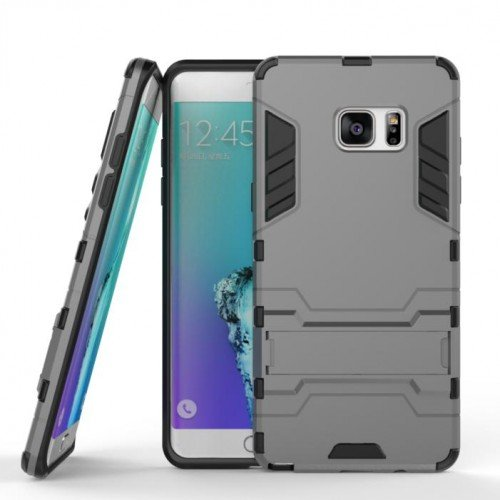 Ανθεκτική Θήκη με Stand Samsung Galaxy J5 (2016)  - Dark Grey (9607) - OEM