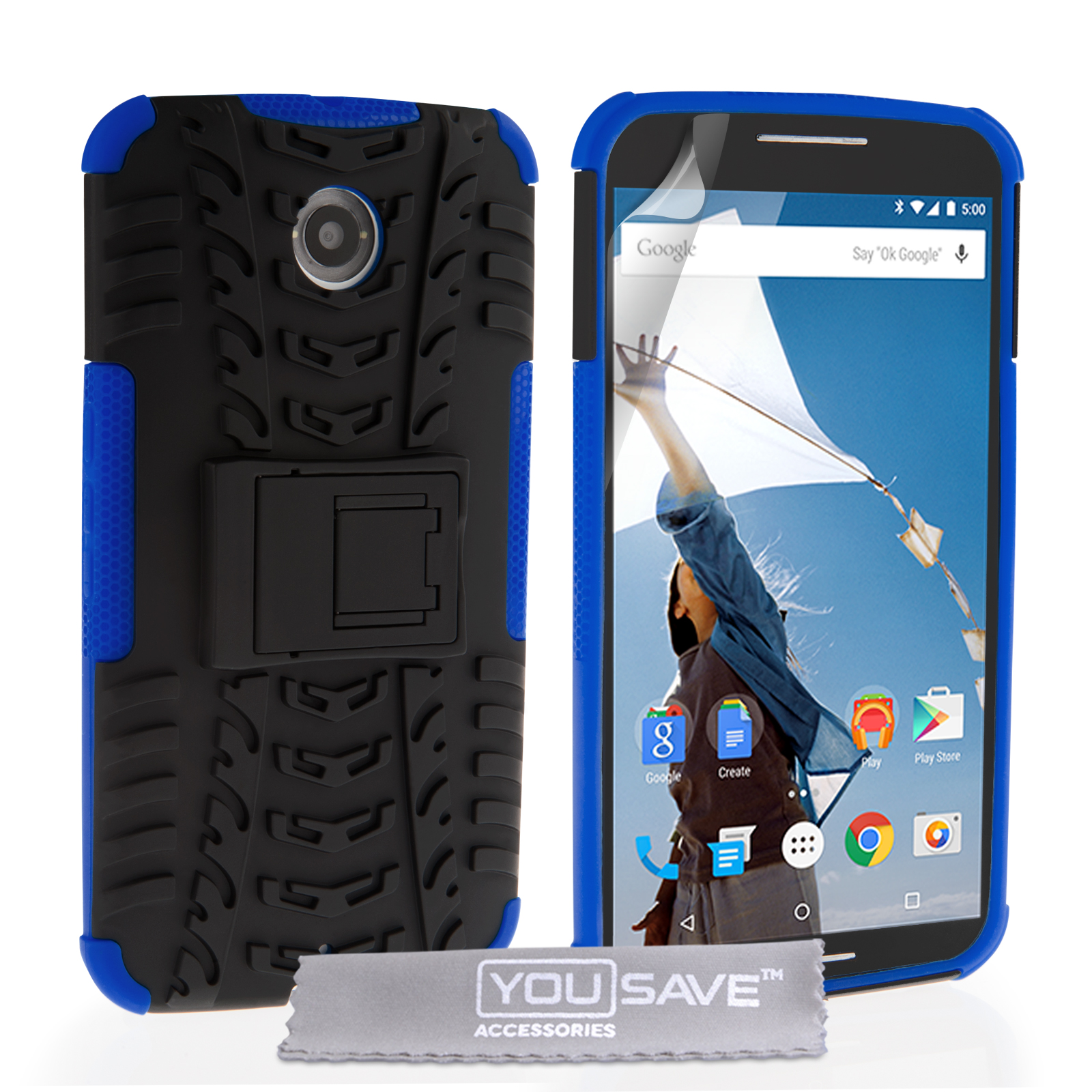 Ανθεκτική Θήκη Motorola Nexus 6 by YouSave (Z454) default category