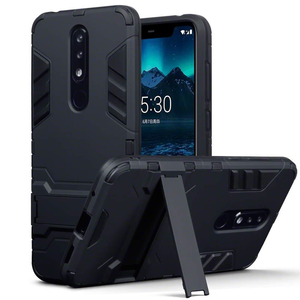 Terrapin Ανθεκτική Dual Layer Θήκη Nokia 5.1 Plus - Black (131-001-039)