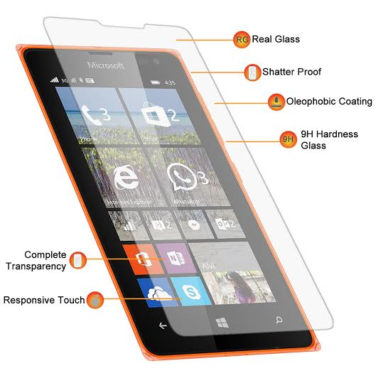 Αντιχαρακτικό Γυάλινο Screen Protector Microsoft Lumia 435 by Blue Star (016-076-001)