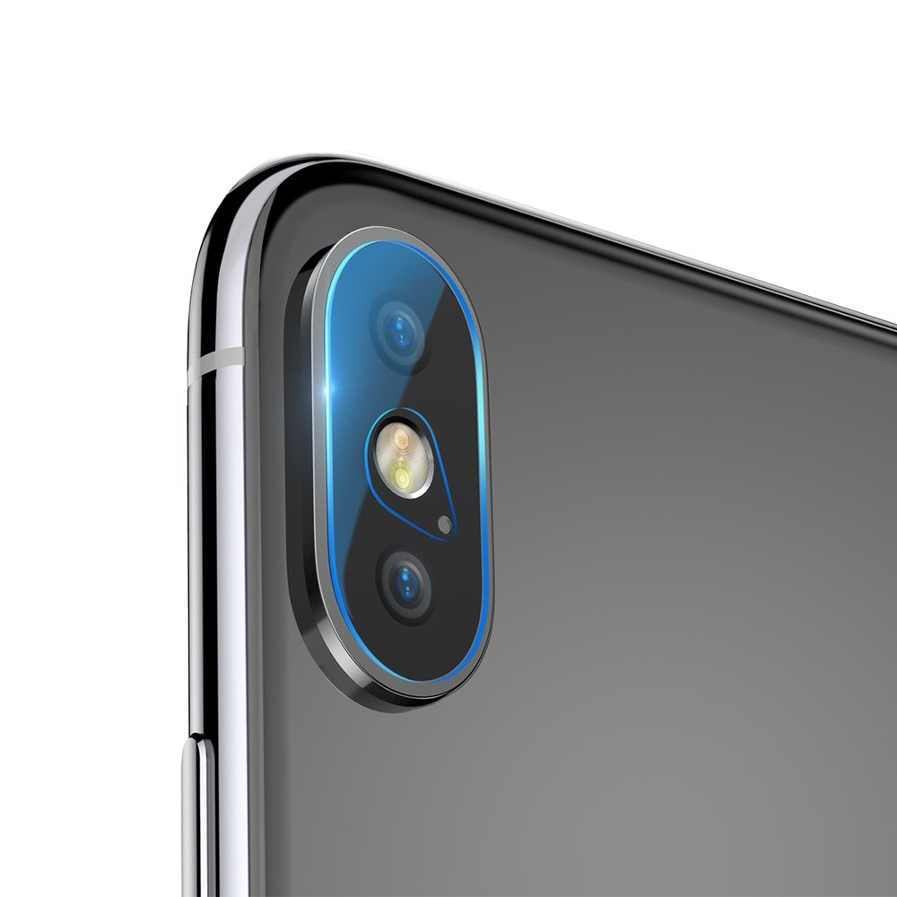 Baseus Camera Lens Glass Film - Αντιχαρακτικό Προστατευτικό Γυαλί για Φακό Κάμερας - iPhone X / XS / XS Max - 2 τεμάχια (SGAPIPH65-JT02)