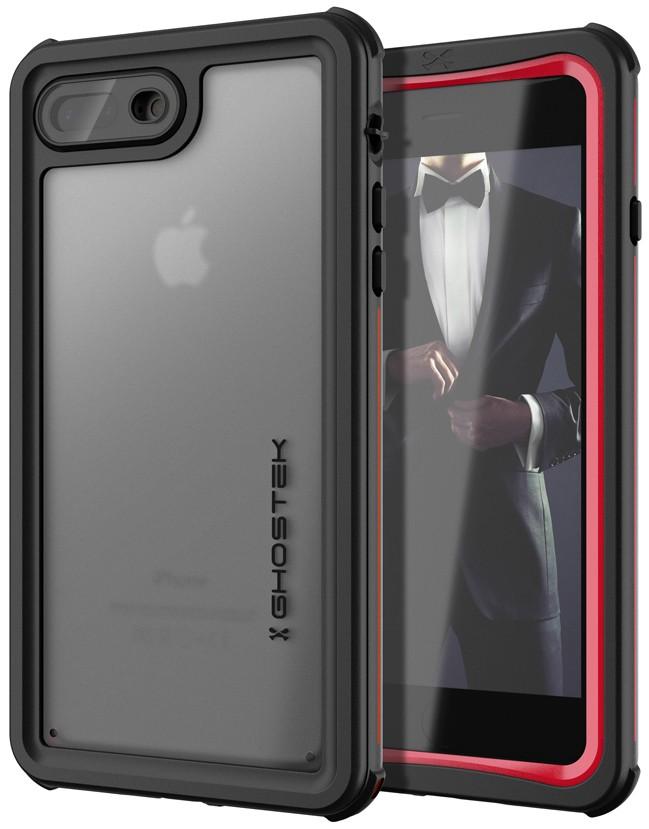 Ghostek Nautical 2 Αδιάβροχη Θήκη iPhone 8 Plus / 7 Plus - Red (CA-GHOCAS836-00)