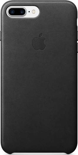 Official Apple Δερμάτινη Θήκη iPhone 8 Plus / 7 Plus - Black (MQHM2ZM/A)