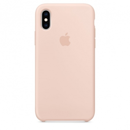 Apple Official Silicon Cover - Θήκη Σιλικόνης iPhone XS - Pink Sand (MTF82ZM/A)