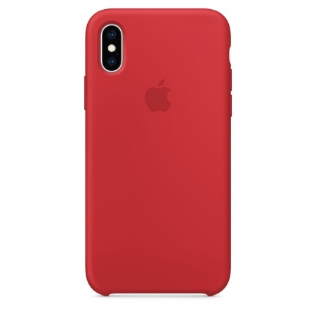 Apple Official Silicon Cover - Θήκη Σιλικόνης iPhone XS - Red (MRWC2ZM/A)