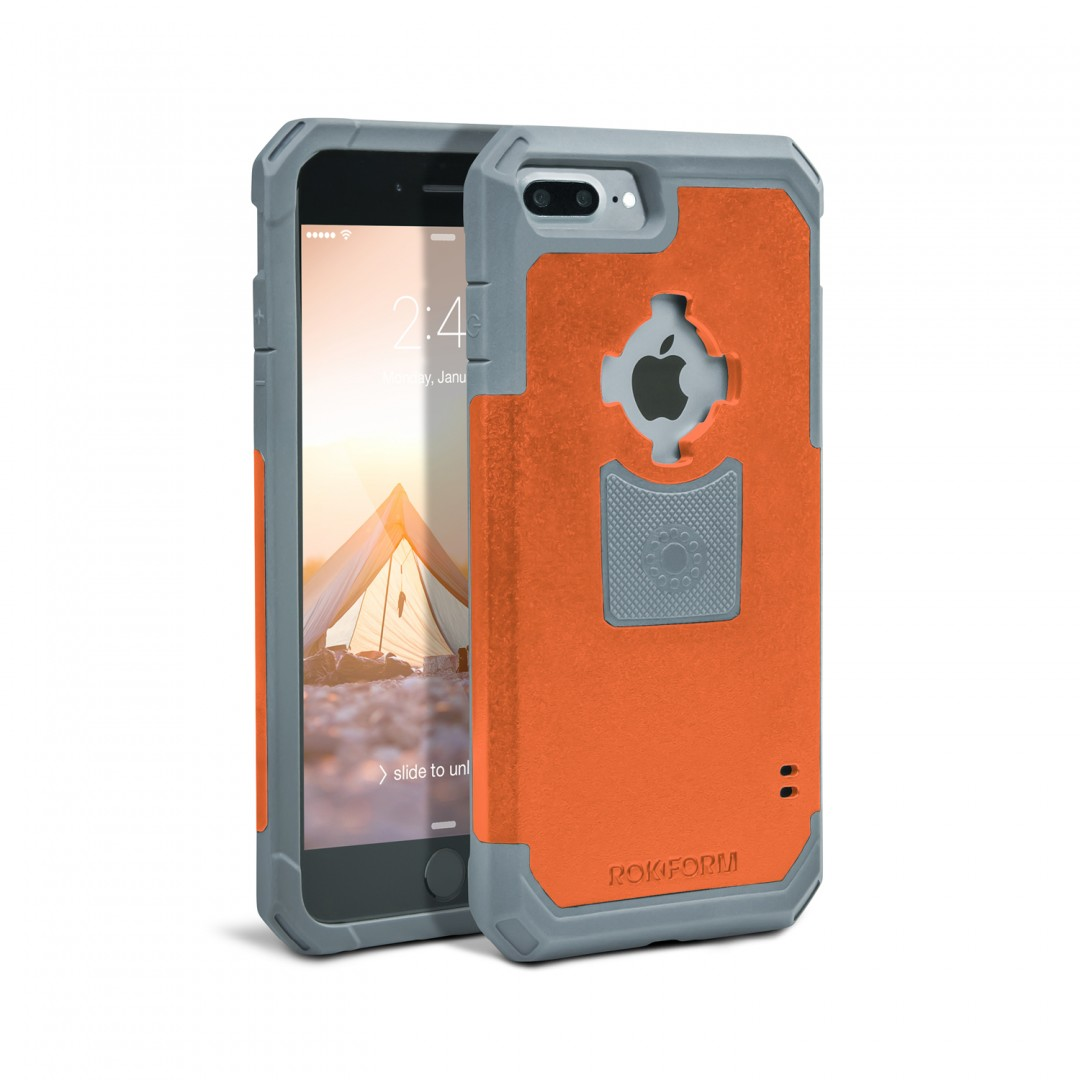 Rokform Θήκη iPhone 7 Plus V3 Case - Rugged Orange / Gun Metal με Μαγνητική Βάση Αυτοκινήτου (303254)
