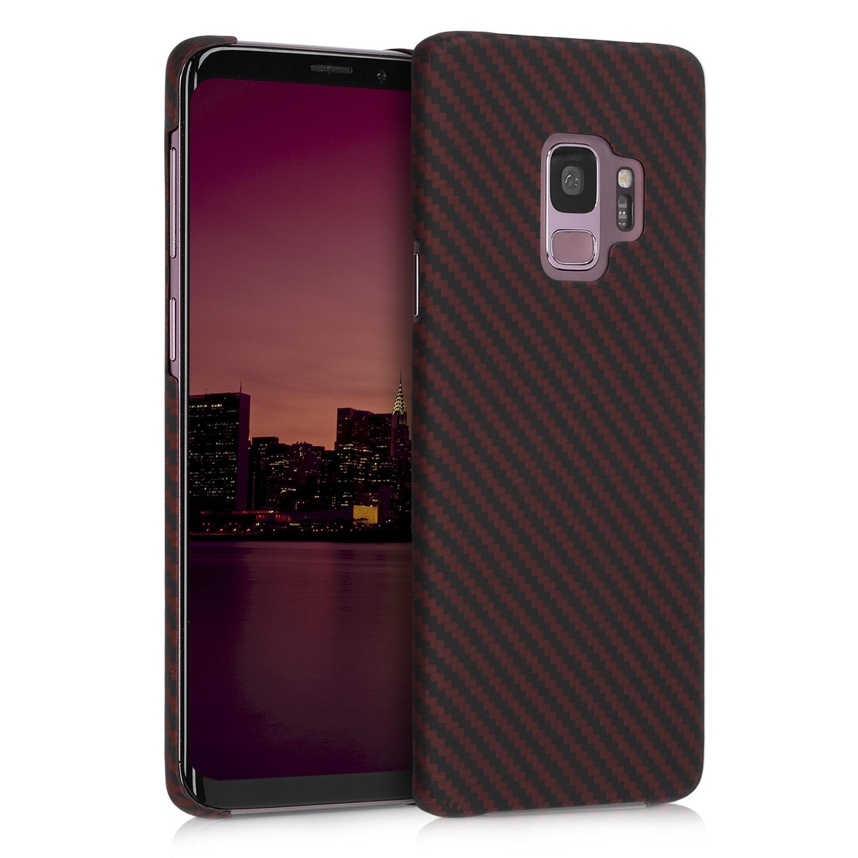 Kalibri Aramid Fiber Body - Σκληρή Θήκη Samsung Galaxy S9 - Dark Red / Black Matte (44989.20)