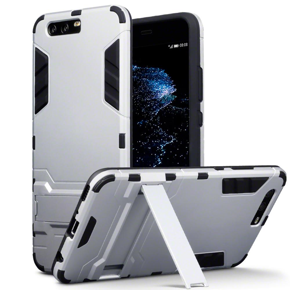 Terrapin Ανθεκτική Θήκη με Stand Huawei P10 Plus - Silver (131-083-032)