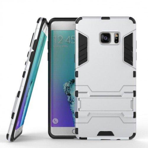 Ανθεκτική Θήκη με Stand Samsung Galaxy J5 (2016)  - Silver (9606) - OEM