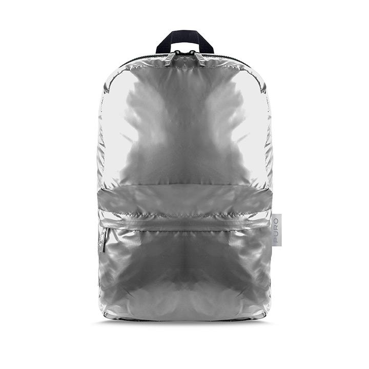 Puro Plume Foldable Αναδιπλούμενο Σακίδιο Backpack - Metallic Silver (14274)