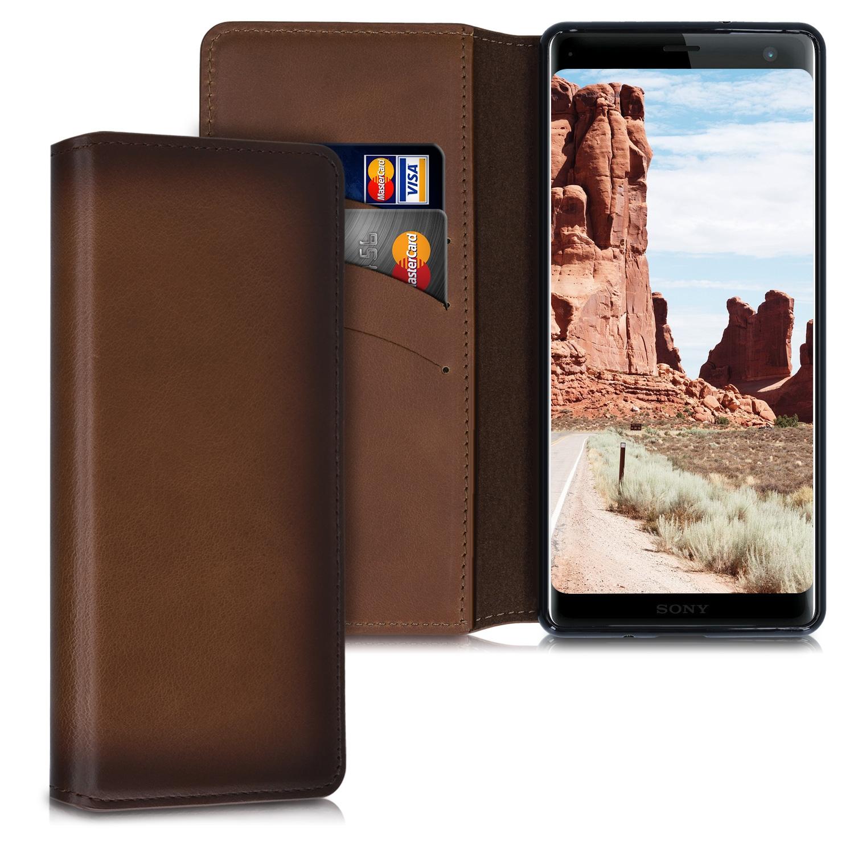 Kalibri Θήκη - Πορτοφόλι Sony Xperia XZ3 - Vintage Brown (48333.133)