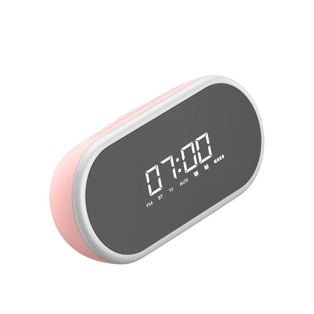 Baseus Encok E09 Wireless Bluetooth Speaker - Ασύρματο Ηχείο / Ξυπνητήρι - Pink (NGE09-04)