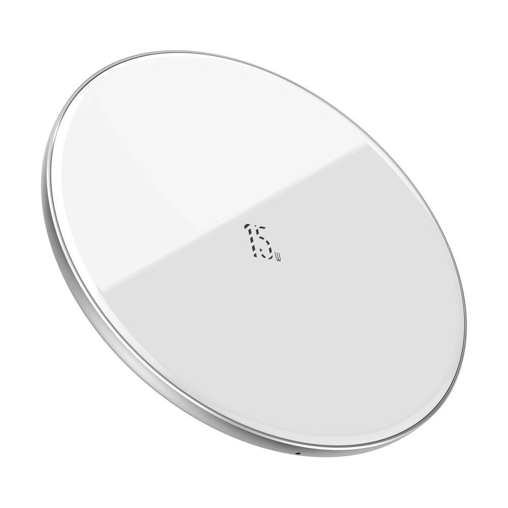 Baseus Simple Wireless Charger - Ασύρματος Φορτιστής Qi 15W - White (WXJK-B02)