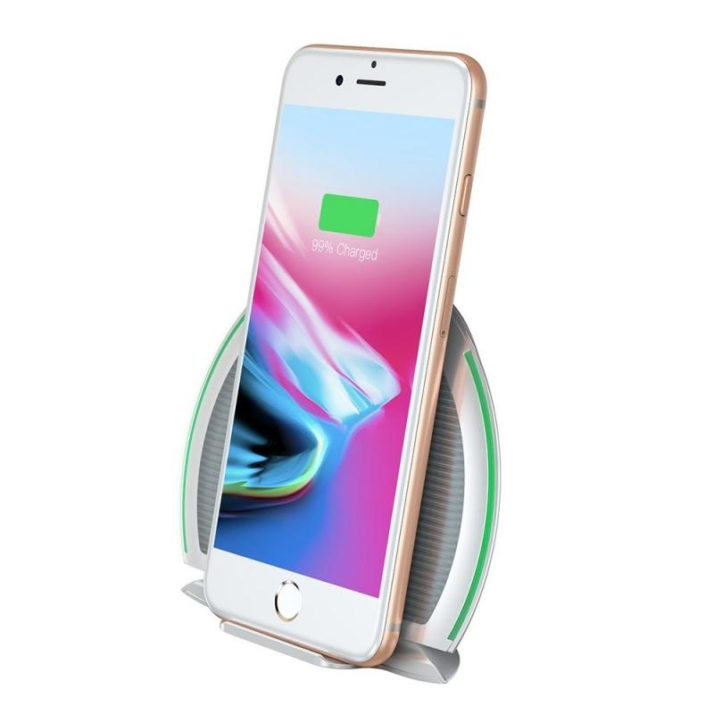 Baseus Foldable Multifunction Wireless Charger - Ασύρματος Φορτιστής - White (WXZD-02)