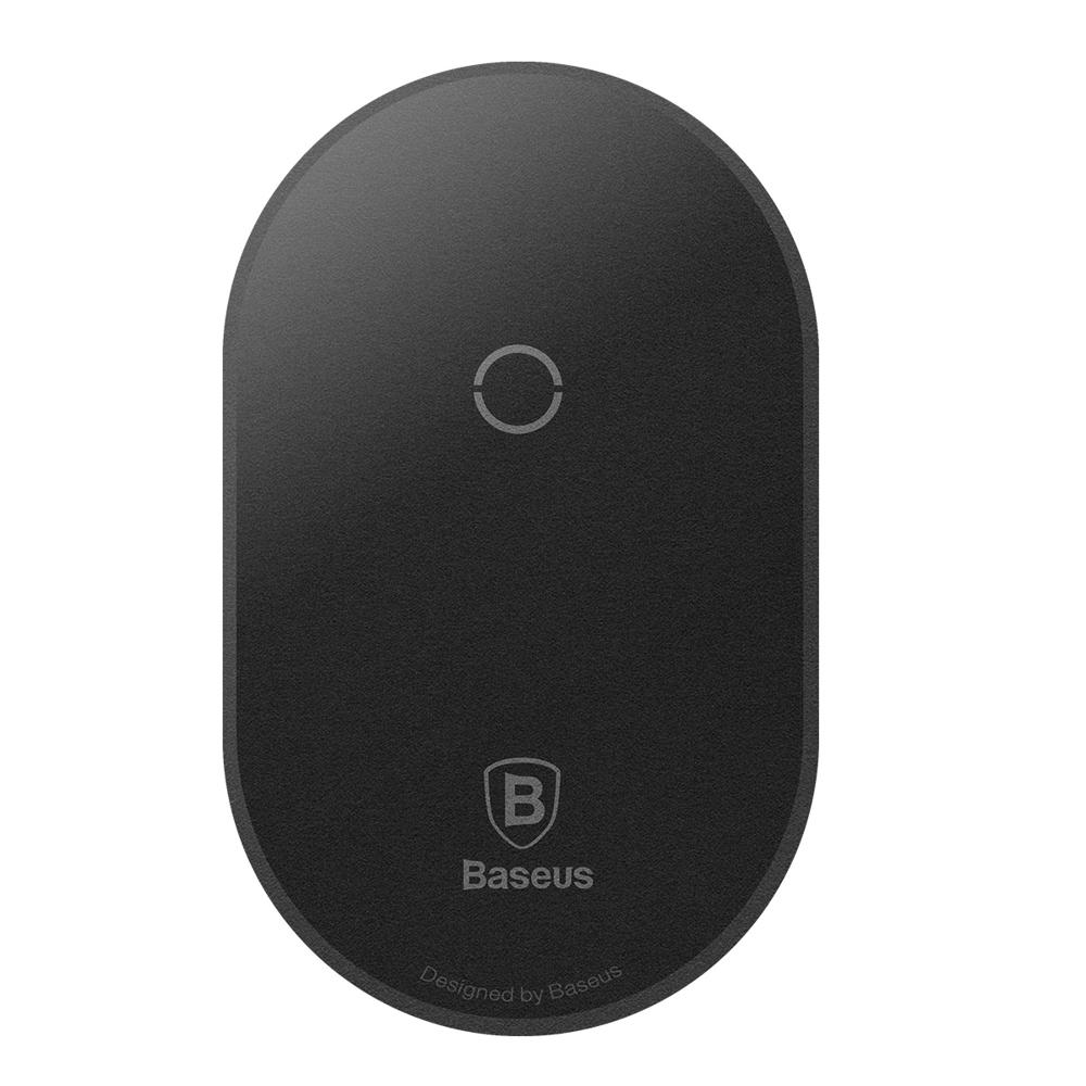 Baseus Microfiber Wireless Charging Receiver - Δέκτης Ασύρματης Φόρτισης Qi με Βύσμα Micro-USB - Black (WXTE-C01)