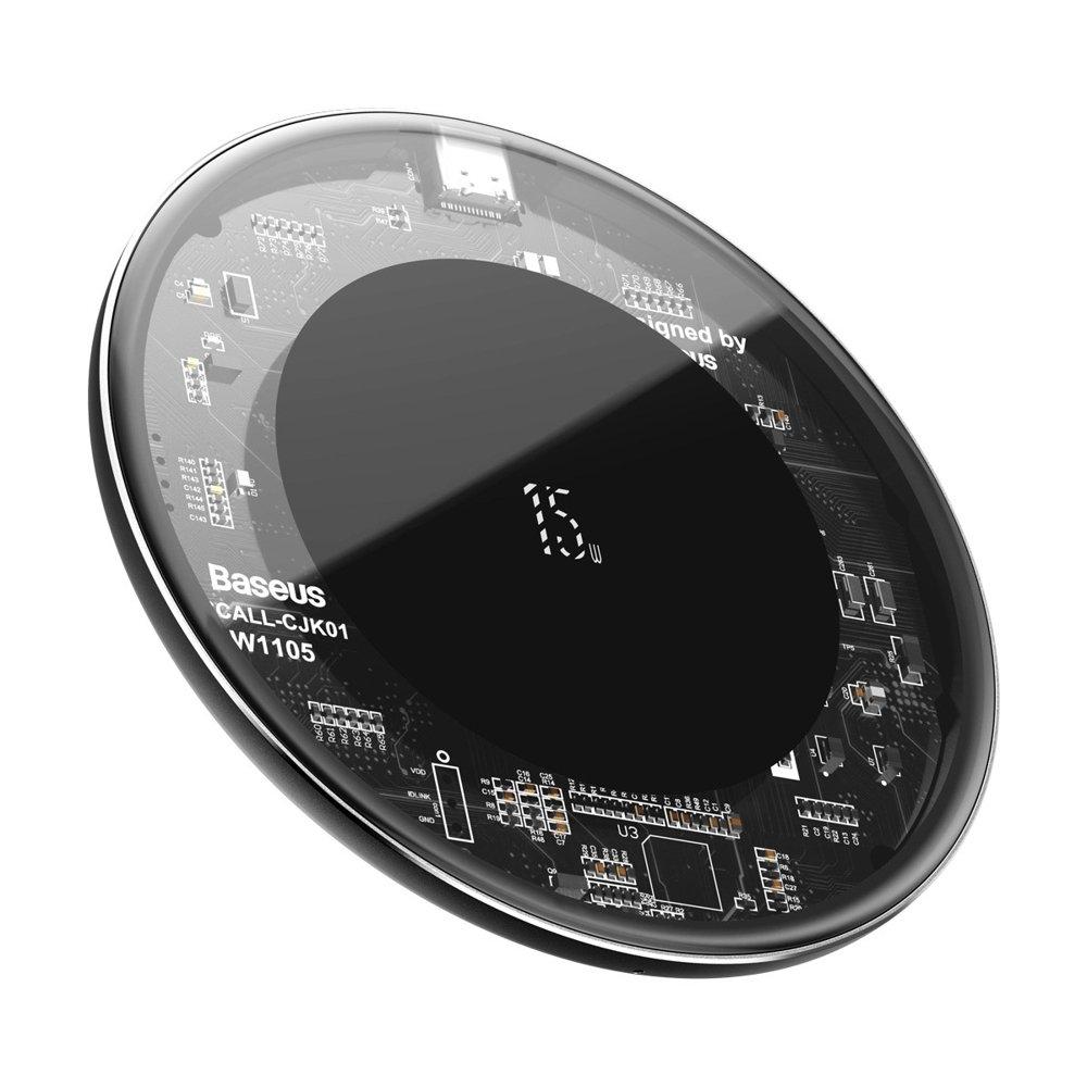 Baseus Simple Wireless Charger - Ασύρματος Φορτιστής Qi 15W - Visible (WXJK-BA02)